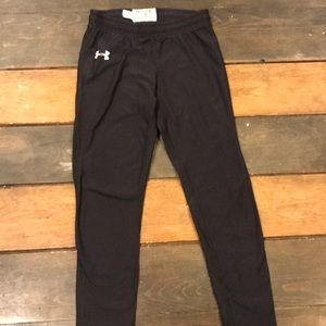 Under armour youth thermal pants, black